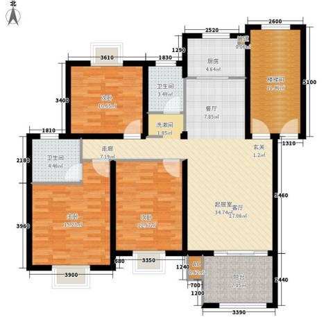 金色地中海3室0厅2卫1厨150.00㎡户型图
