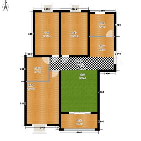汉水熙园3室0厅1卫1厨149.00㎡户型图