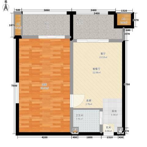 乐城半岛1室1厅1卫0厨98.00㎡户型图