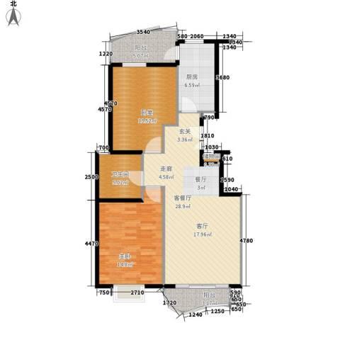 芳草轩1室1厅1卫1厨86.00㎡户型图