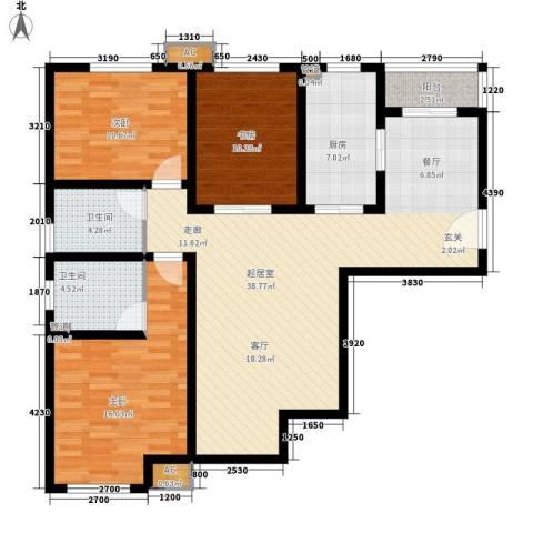 今北豪庭3室0厅2卫1厨138.00㎡户型图