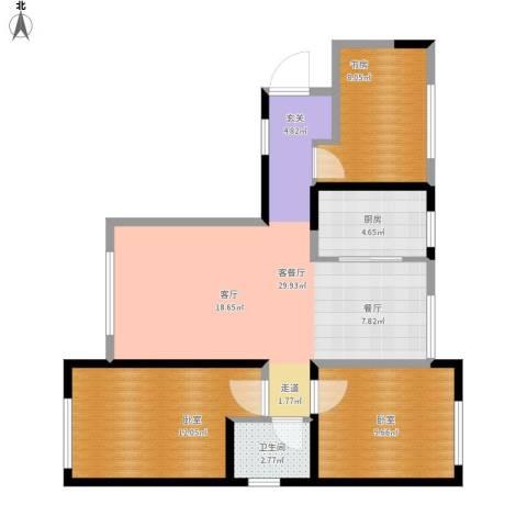 华茂中心1室1厅1卫1厨95.00㎡户型图