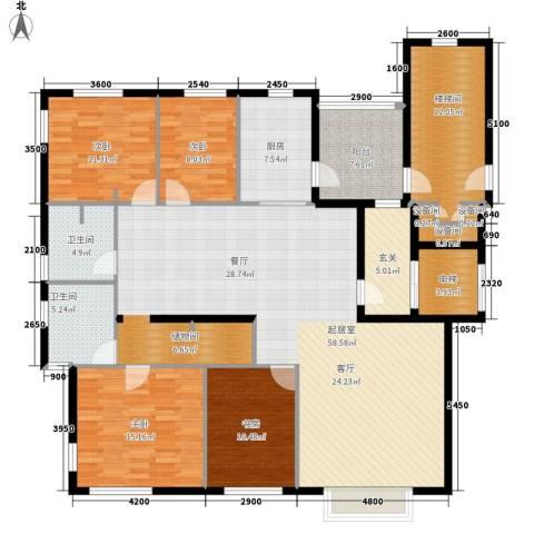 华清园小区4室0厅2卫1厨160.00㎡户型图