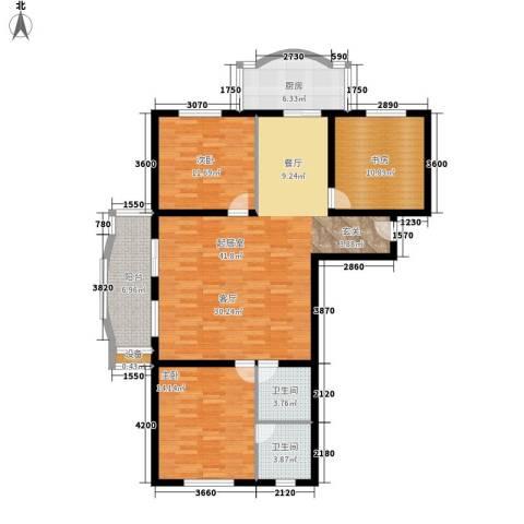 金裕青青家园3室0厅2卫1厨129.00㎡户型图