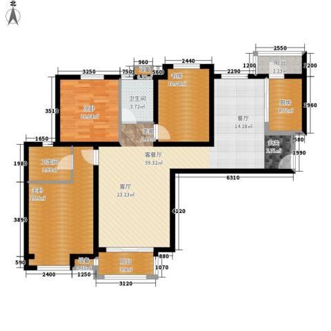 中海曲江碧林湾3室1厅2卫1厨127.00㎡户型图