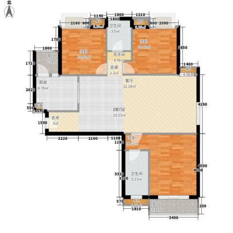 城南翡翠3室0厅2卫1厨138.00㎡户型图