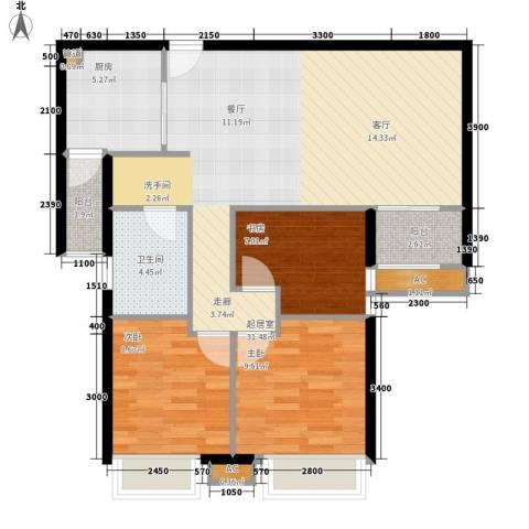 城南翡翠3室0厅1卫1厨103.00㎡户型图