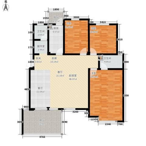 洪城比华利3室0厅2卫1厨169.00㎡户型图