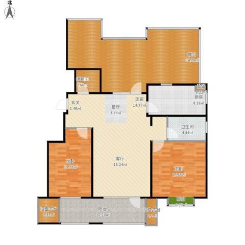 康城·瑞河兰乔2室1厅1卫1厨171.00㎡户型图