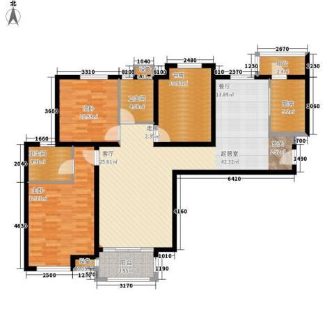 中海曲江碧林湾3室0厅2卫1厨130.00㎡户型图