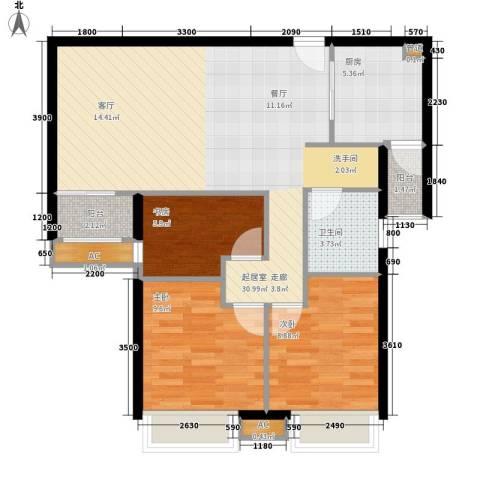 城南翡翠3室0厅1卫1厨99.00㎡户型图