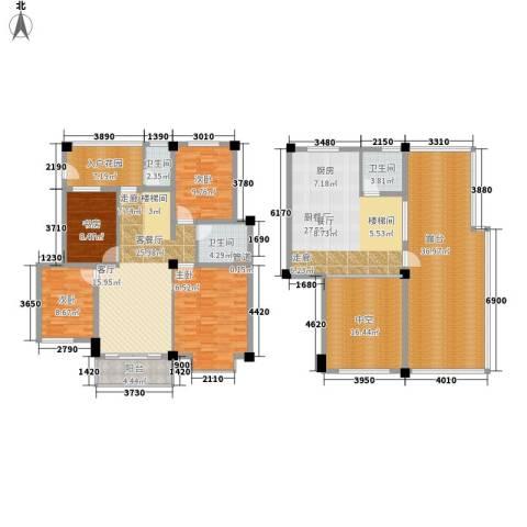 金色家园4室1厅3卫0厨242.00㎡户型图