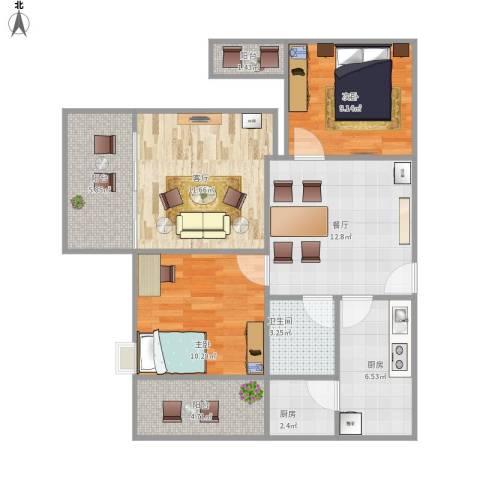 恒安世纪花城2室2厅1卫2厨93.00㎡户型图