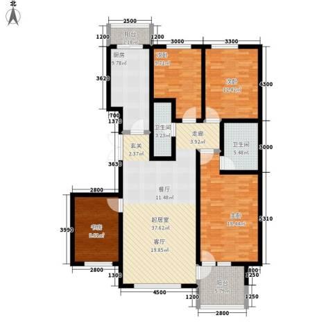 海东公馆4室0厅2卫1厨165.00㎡户型图
