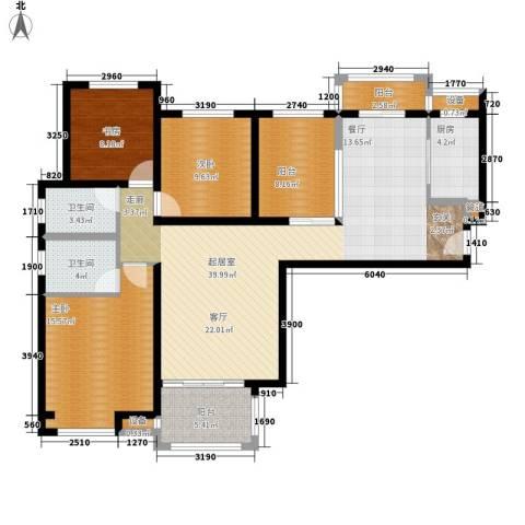 中海曲江碧林湾3室0厅2卫1厨137.00㎡户型图