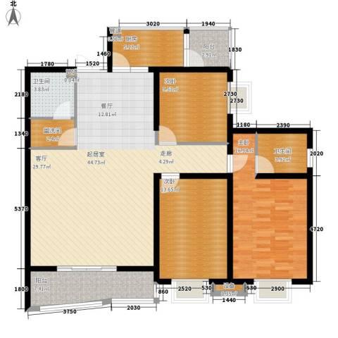金裕青青家园3室0厅2卫1厨143.00㎡户型图