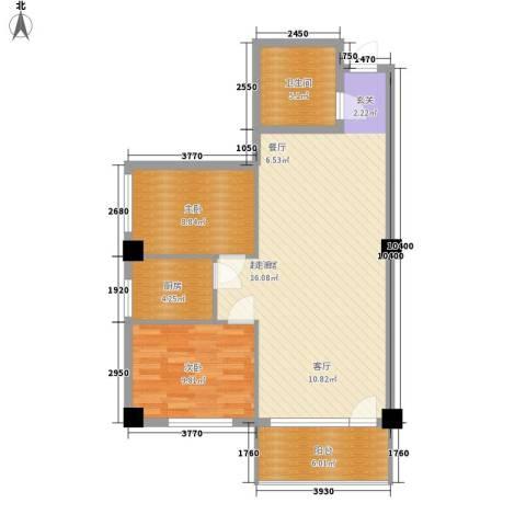 春江花园2室0厅1卫1厨78.00㎡户型图