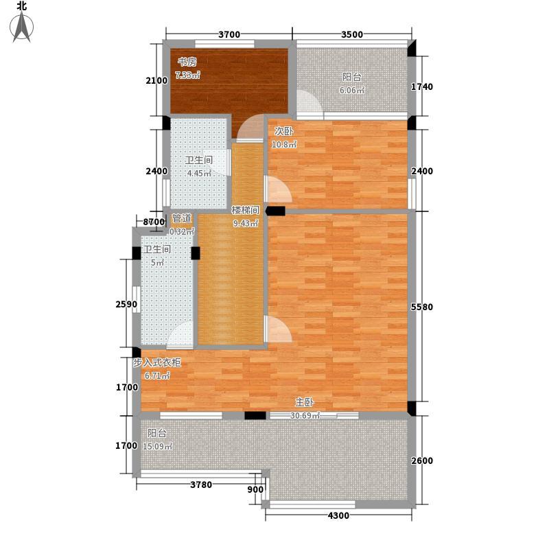 路劲隽悦豪庭C区14-19栋02单元3-4层4层平面图户型