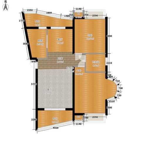 汉水熙园2室0厅1卫1厨129.00㎡户型图