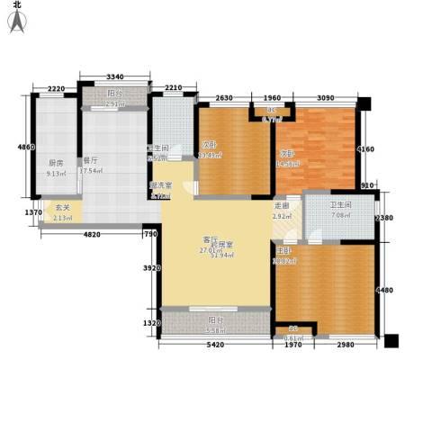 世融嘉轩3室0厅2卫1厨150.00㎡户型图