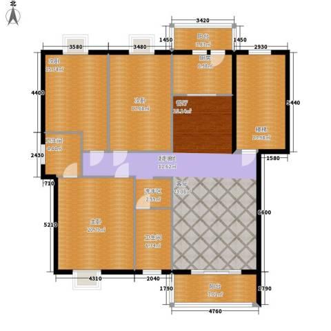汉水熙园3室0厅2卫1厨201.00㎡户型图