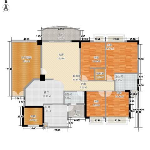 富力广场4室0厅2卫1厨165.94㎡户型图