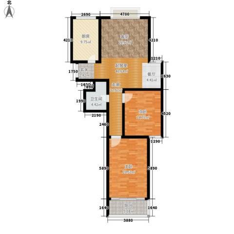 融基湖光山色2室0厅1卫1厨108.00㎡户型图