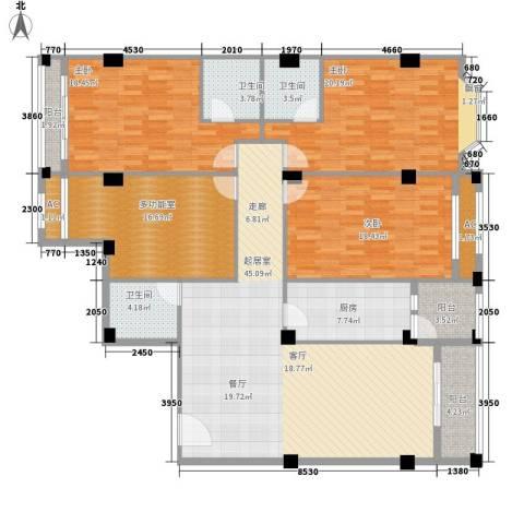 亚太新城3室0厅3卫1厨168.00㎡户型图