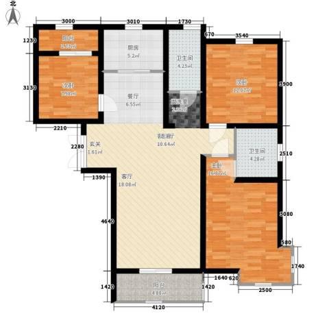 领世郡3室1厅2卫1厨139.00㎡户型图