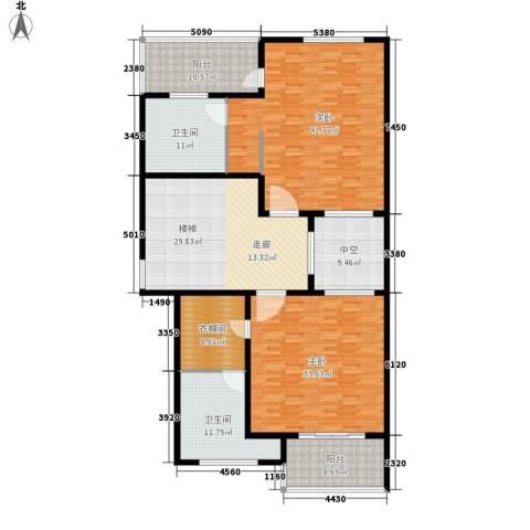 欣业嘉园2室0厅2卫0厨231.00㎡户型图