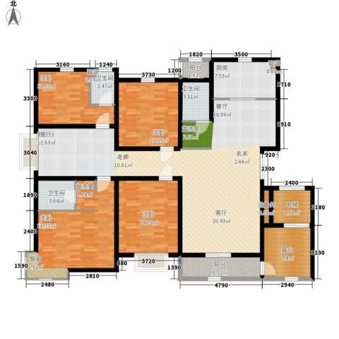 领世郡4室1厅3卫1厨221.00㎡户型图
