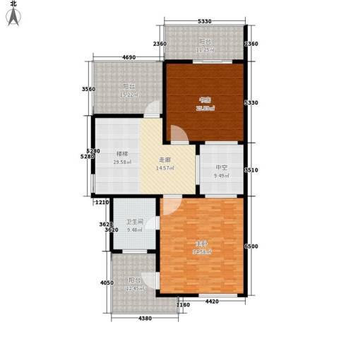 欣业嘉园2室0厅1卫0厨231.00㎡户型图