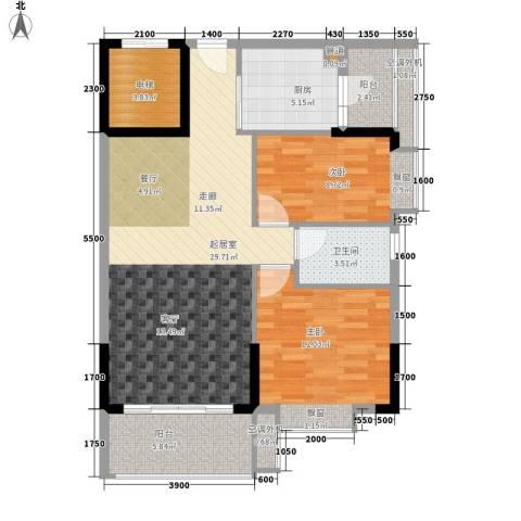 保利紫薇花园2室0厅1卫1厨81.00㎡户型图