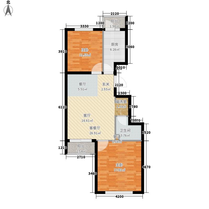 瑞雪春堂49.52㎡A―面积7952m户型