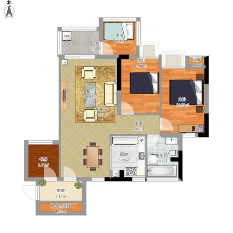 瑞泰幸福里4室1厅1卫1厨103.00㎡户型图