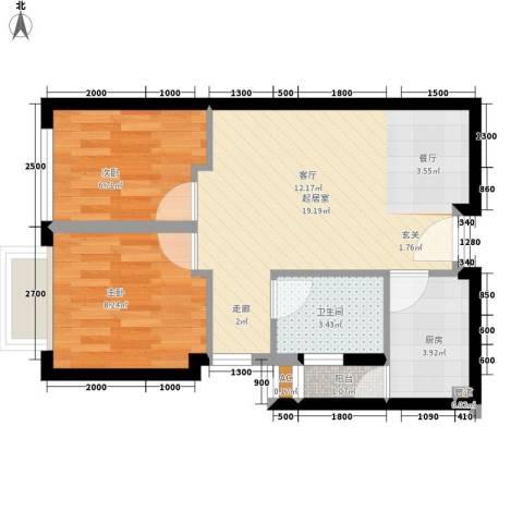 COSMO广场2室0厅1卫1厨62.00㎡户型图