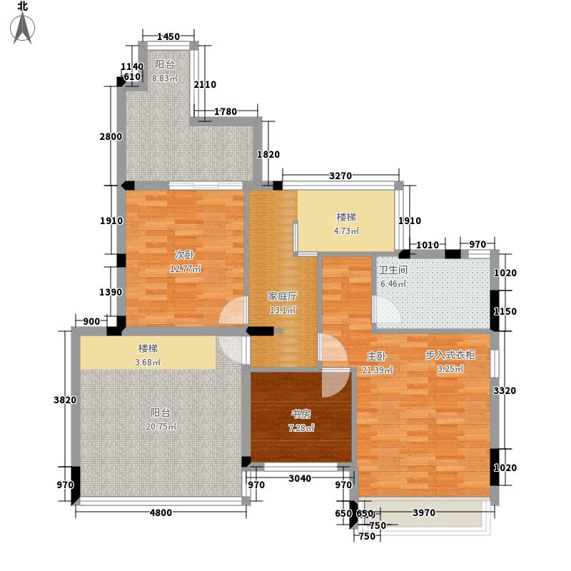 路劲隽悦豪庭D区20-23栋5-6层5层复式01单位2层平面图户型