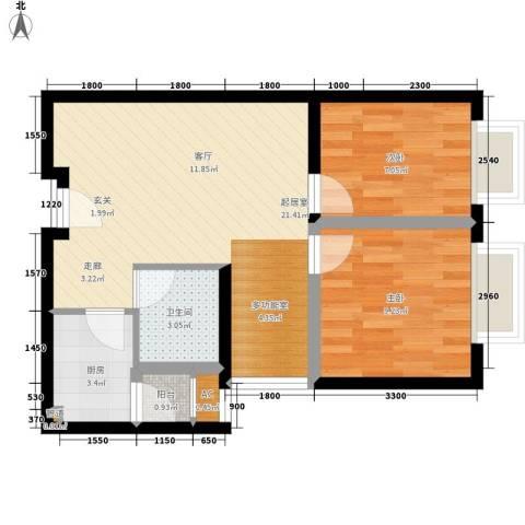 COSMO广场2室0厅1卫1厨73.00㎡户型图