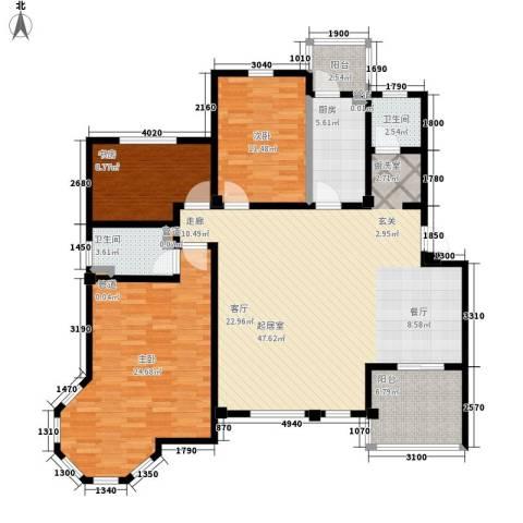 洪城比华利3室0厅2卫1厨159.00㎡户型图