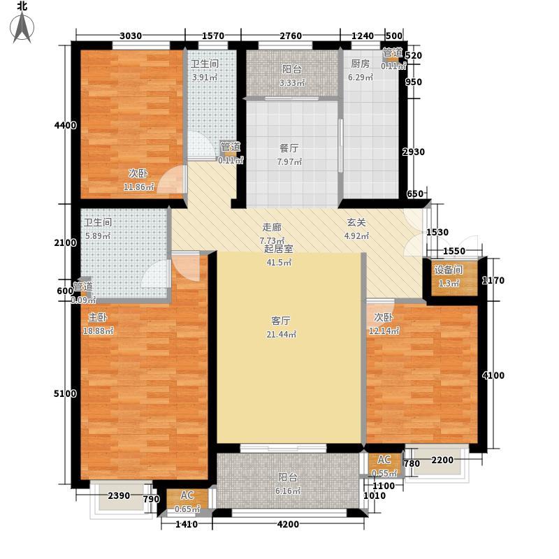 中景盛世长安152.00㎡14号楼C2户面积15200m户型