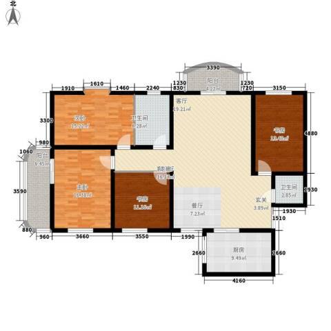明德雅园大厦4室1厅2卫1厨149.00㎡户型图