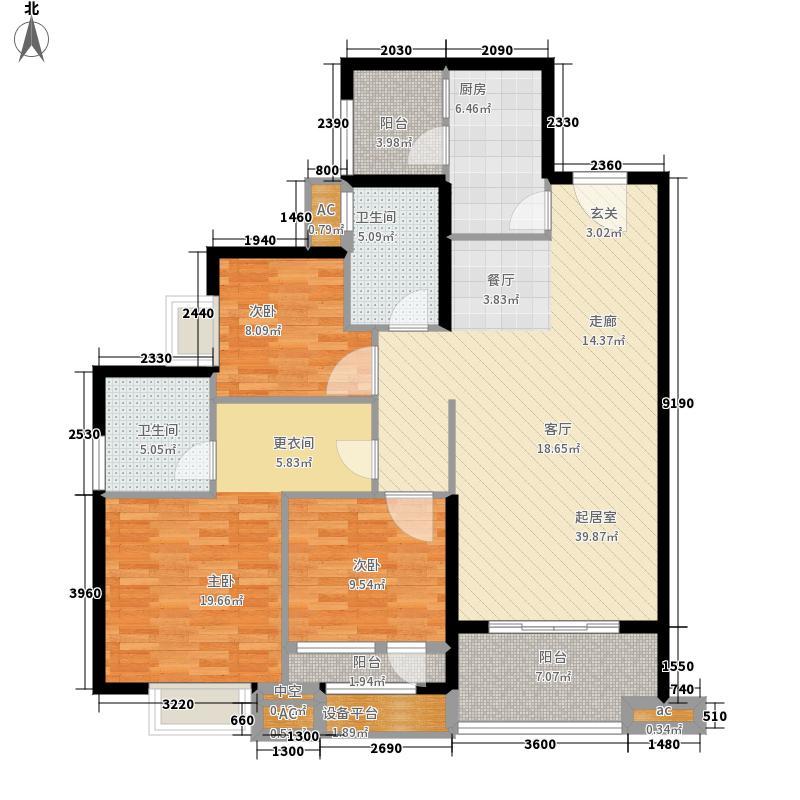 联发杏林湾一号121.00㎡8#楼03户型3室2厅