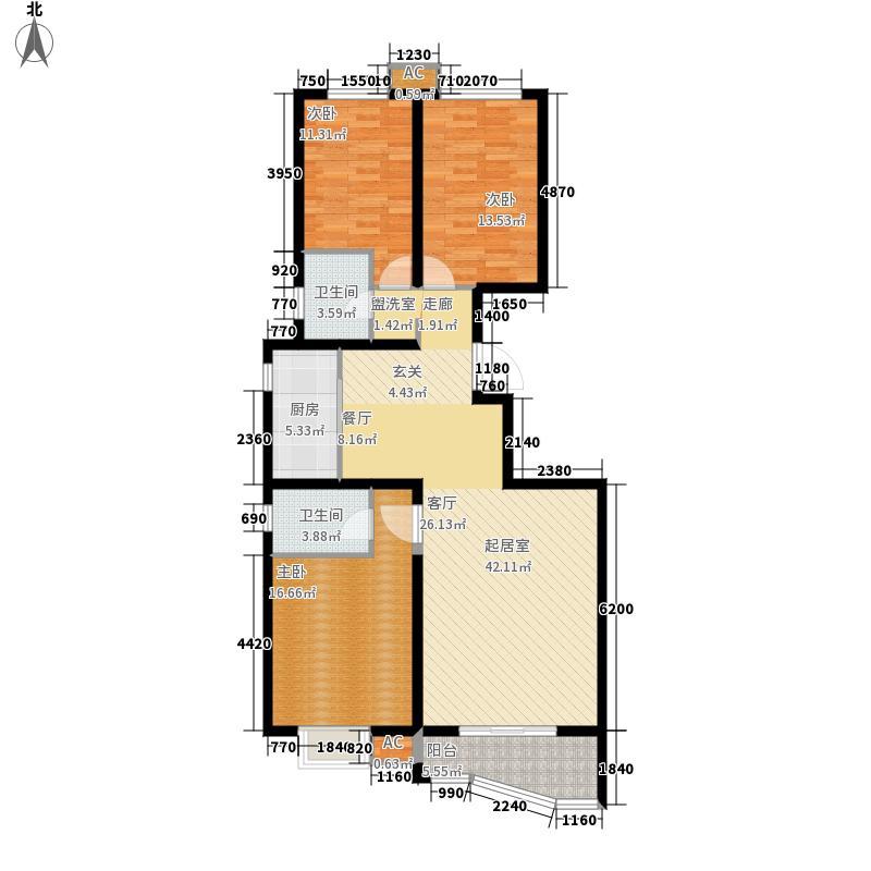翠岛天成139.00㎡C户型3室2厅