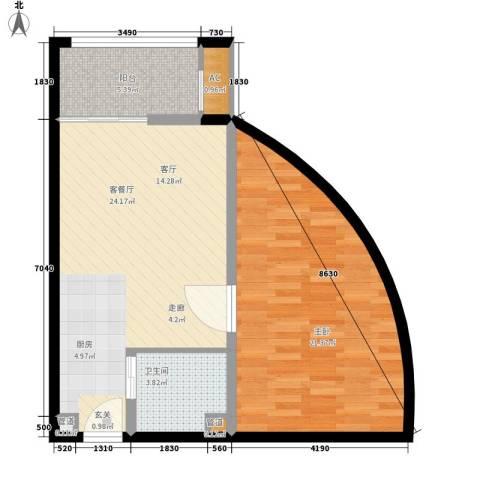 乐城半岛1室1厅1卫0厨81.00㎡户型图