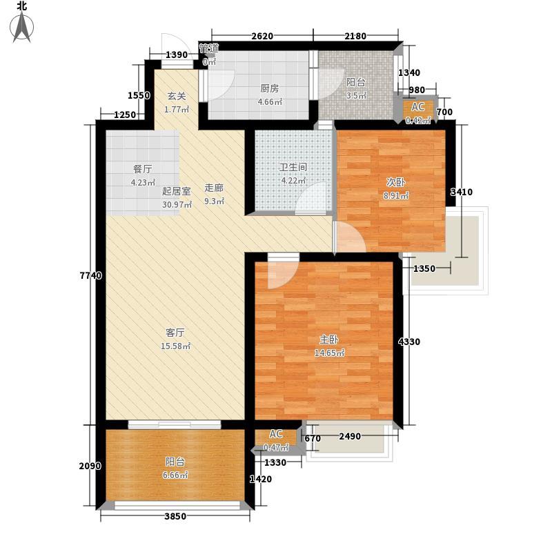 格林君典85.99㎡二期拟建2面积8599m户型