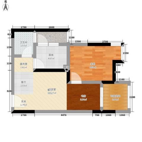 成都A区1室0厅1卫1厨55.00㎡户型图