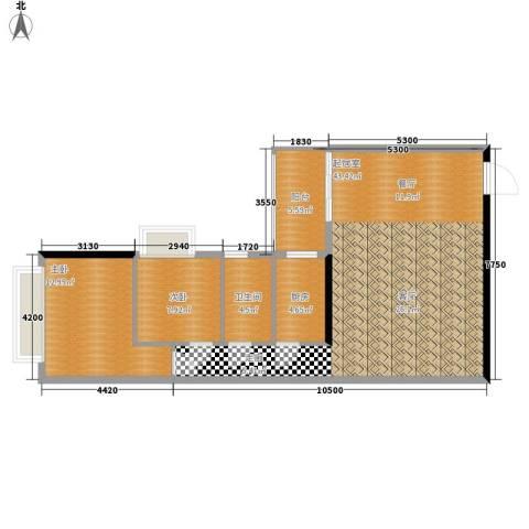 天逸名都2室0厅1卫1厨88.00㎡户型图