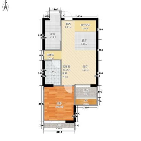 UP青年公社1室0厅1卫1厨62.00㎡户型图