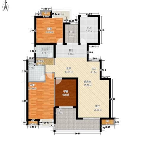 天启花园3室0厅2卫1厨130.00㎡户型图