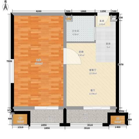 乐城半岛1室1厅1卫0厨83.00㎡户型图